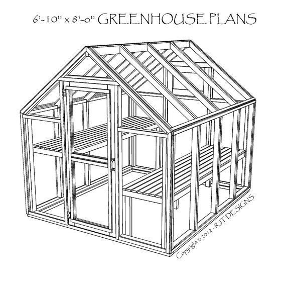 6'10 x 8'0 Greenhouse Plans by rjterry