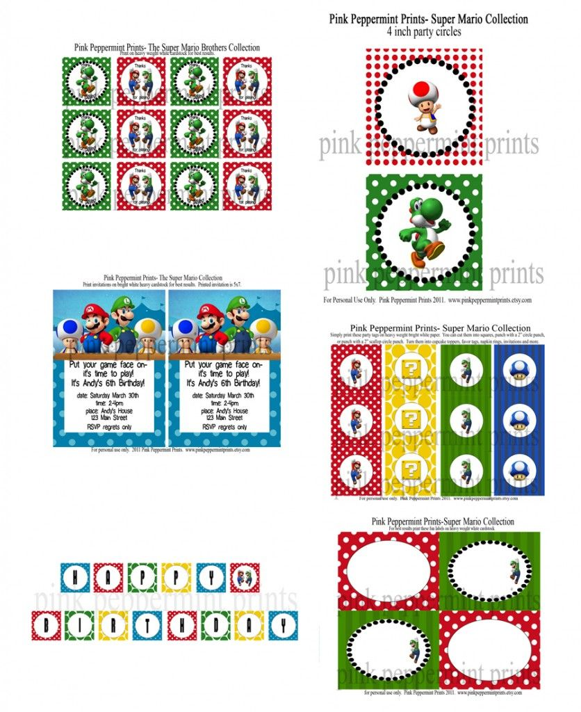 Let\'s Party: Super Mario Brothers Party Collection | Birthday Ideas ...