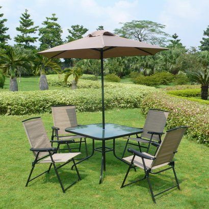 Find This Pin And More On Inexpensive 4 Person Dining Patio Set Fitzpatrick Sling  Patio Folding Dining Furniture Metal And Plastic Folding Chairs Glass ...