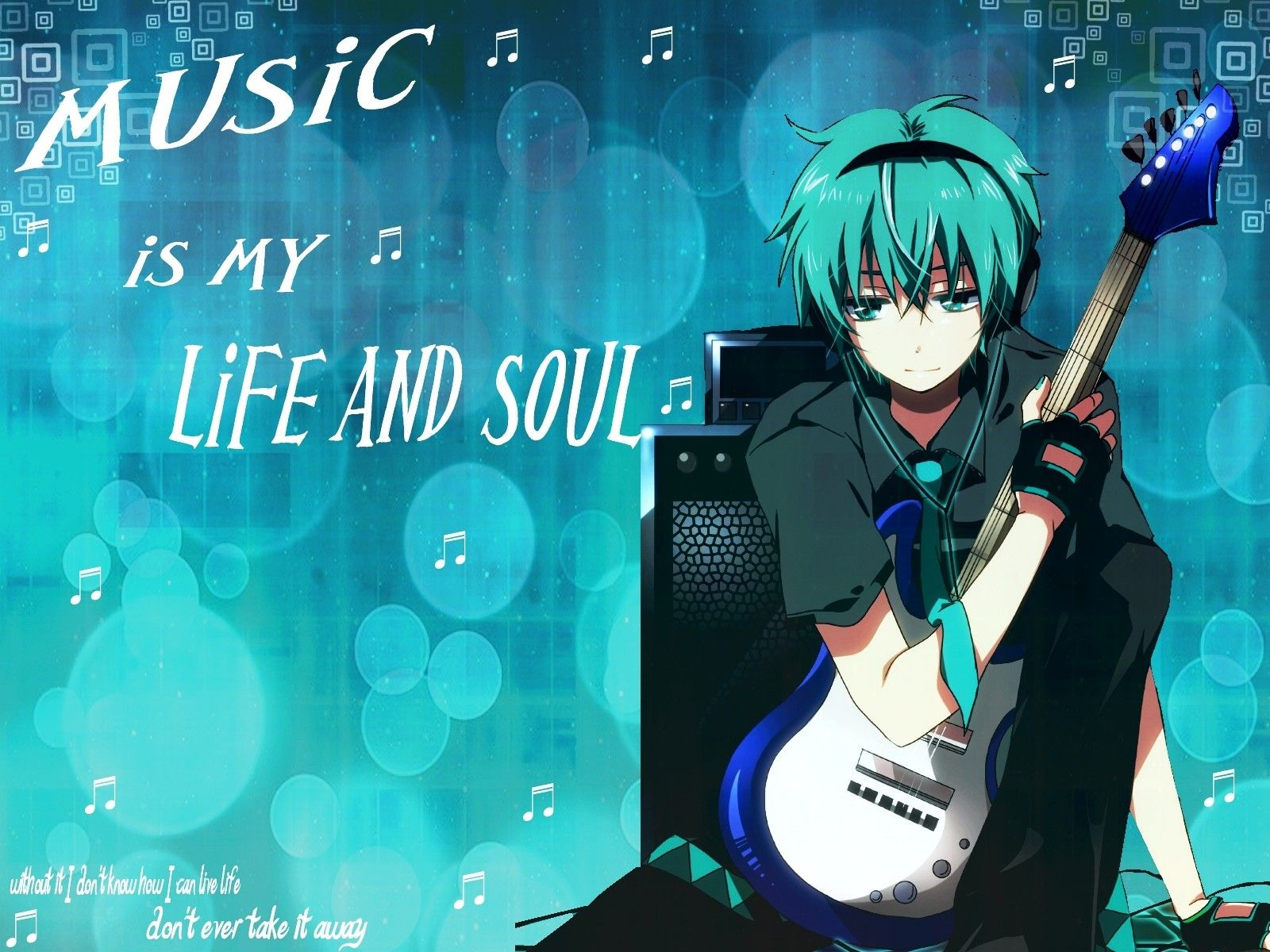 Anime Music Is My Life And Soul Music Wallpaper Anime Music Anime Anime music desktop wallpaper