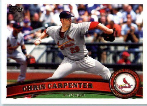 2011 Topps #299 Chris Carpenter - St. Louis Cardinals (Baseball Cards) by Topps. $0.96. 2011 Topps #299 Chris Carpenter - St. Louis Cardinals (Baseball Cards)