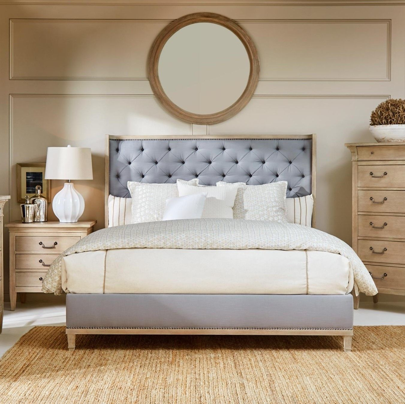The Art Furniture Anna Jordan Upholstered Bed Is Available In The