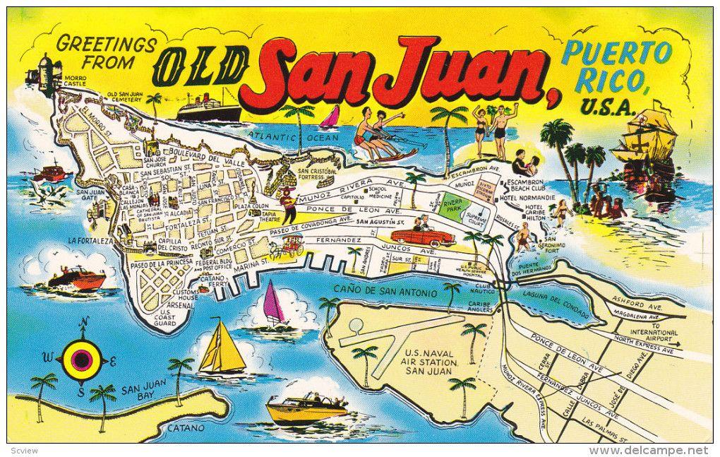 SAN JUAN Puerto Rico S Animated Map ANTILLES - Map us puerto rico