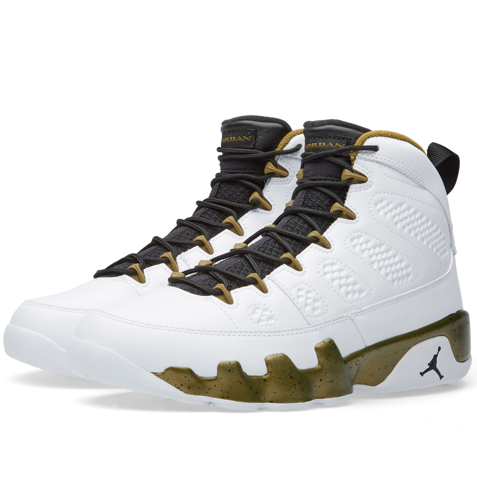 buy popular c7f65 f1db6 air jordan 9   Nike Air Jordan 9 Retro The Spirit (White, Black Militia  Green)