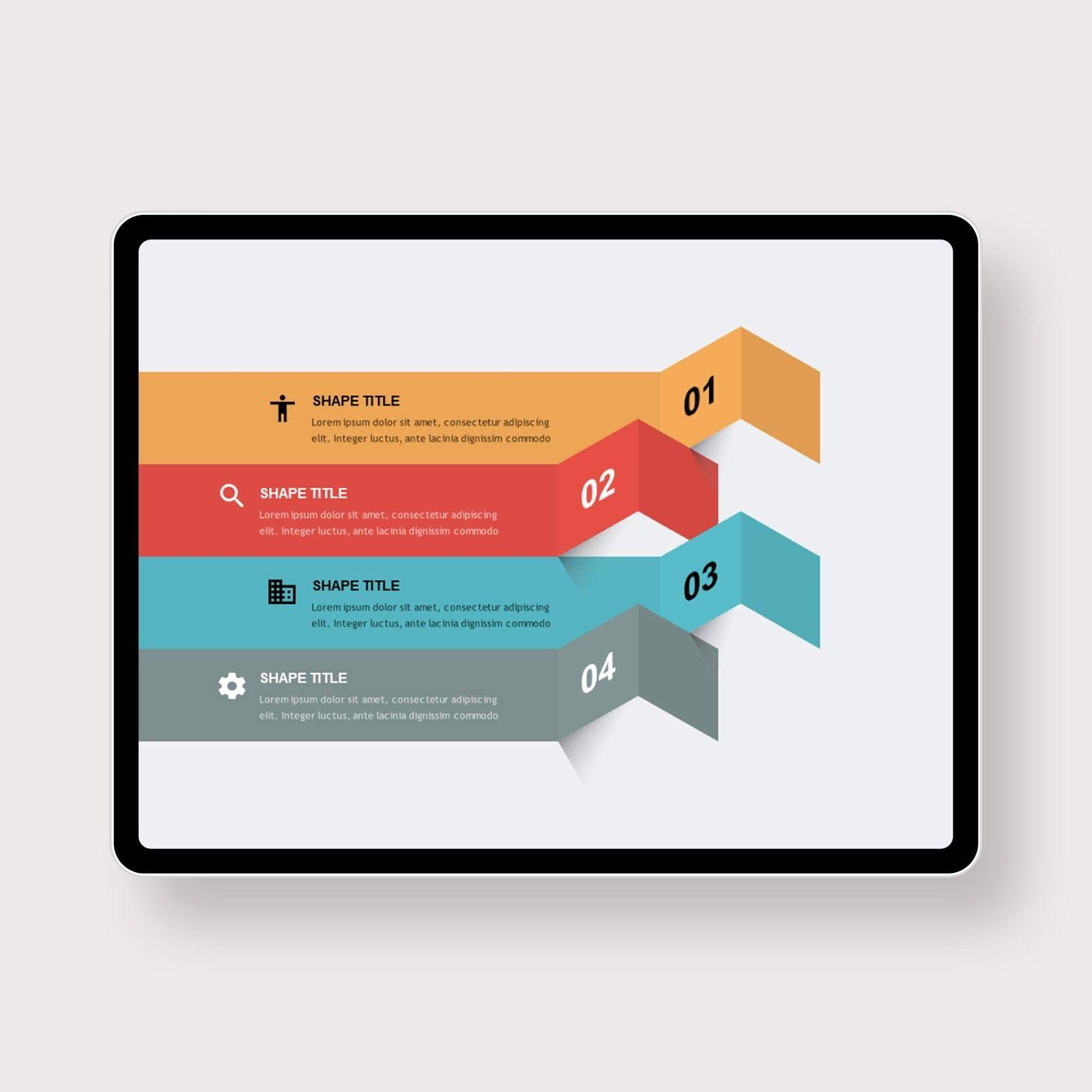 Fold Bar List Powerpoint Templates Ppt Template Design Powerpoint Templates Instructional Design