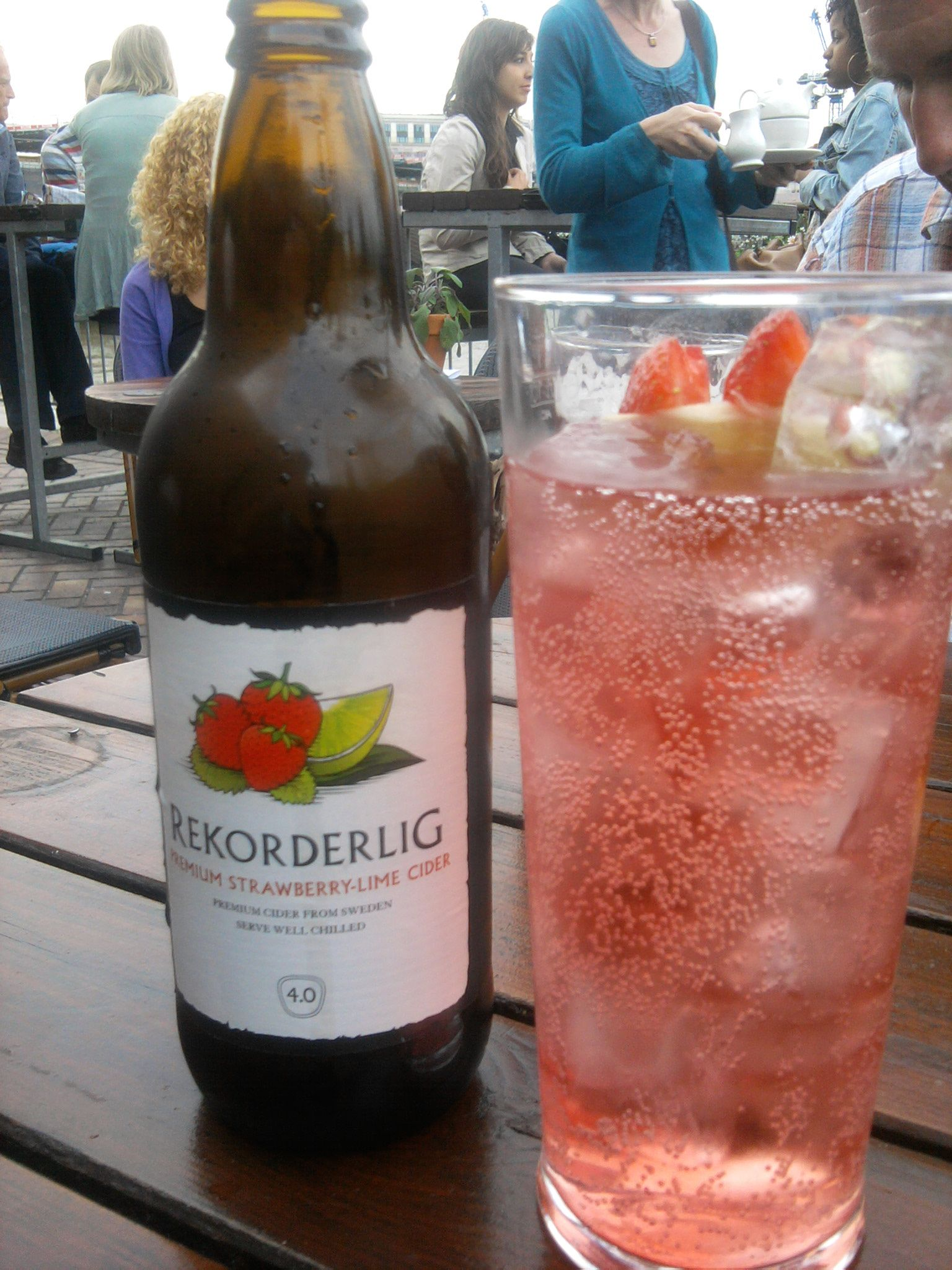 One of my favourite ciders - Rekorderlig strawberry and lime.