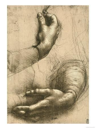 Study Of Female Hands Drawing Royal Library Windsor Giclee