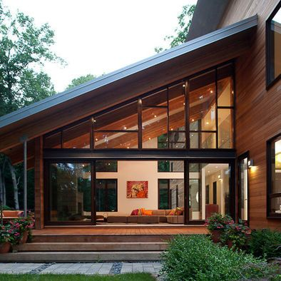 Modern Home Sloped Roof Design Pictures Remodel Decor