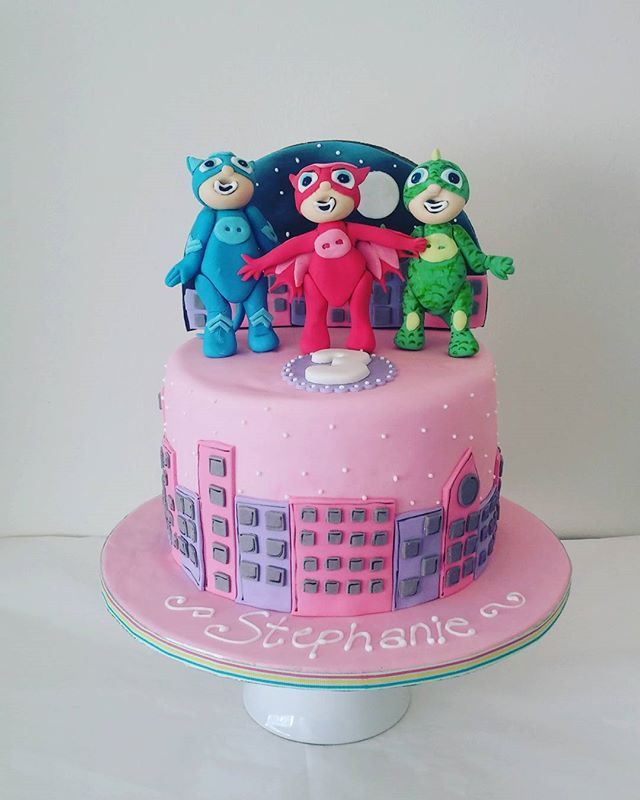 Pjmasks Inspired Cakes Pretty In Pink For A Girl Whimsical