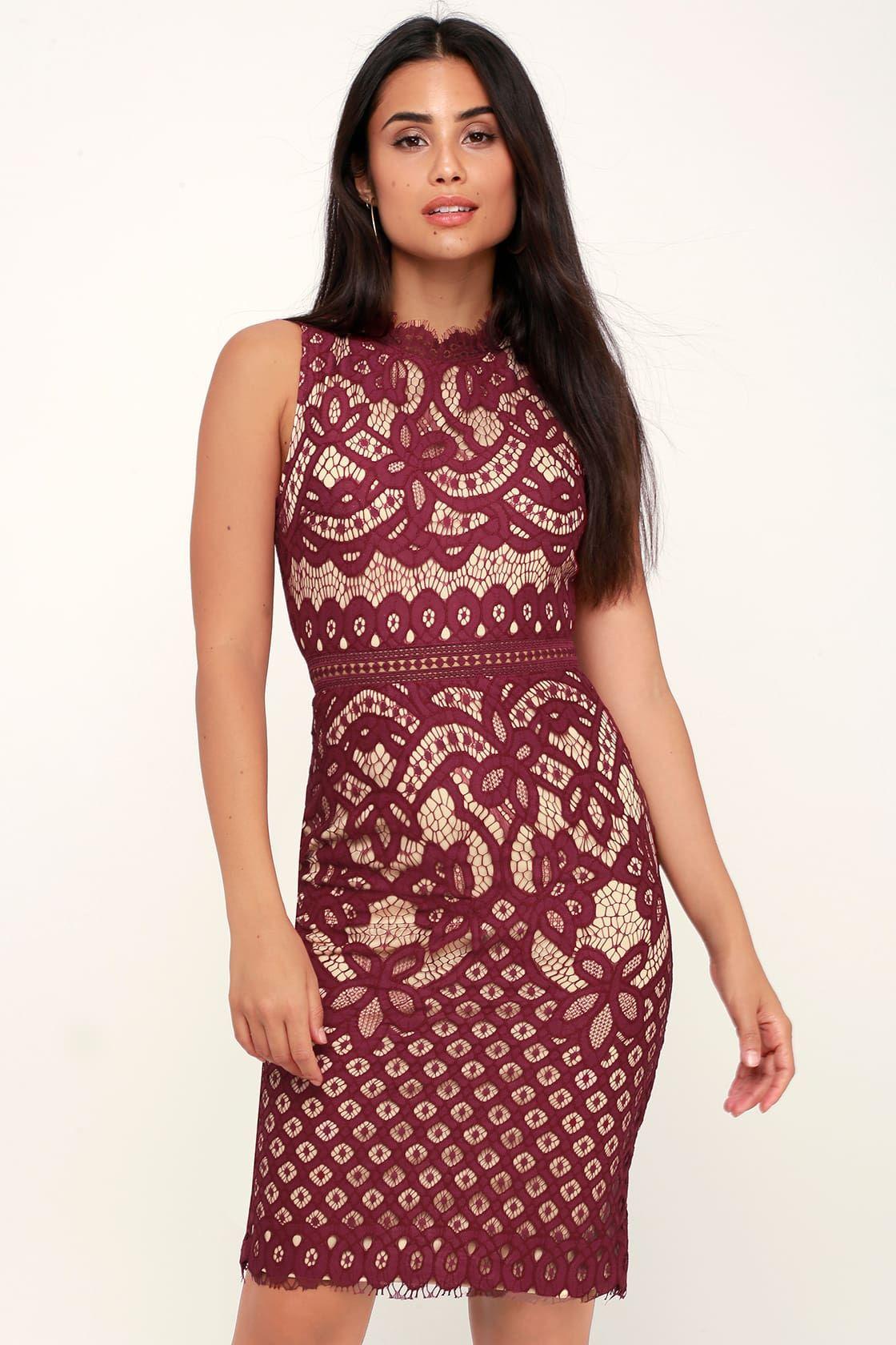 Adra burgundy lace midi dress green lace dresses lace