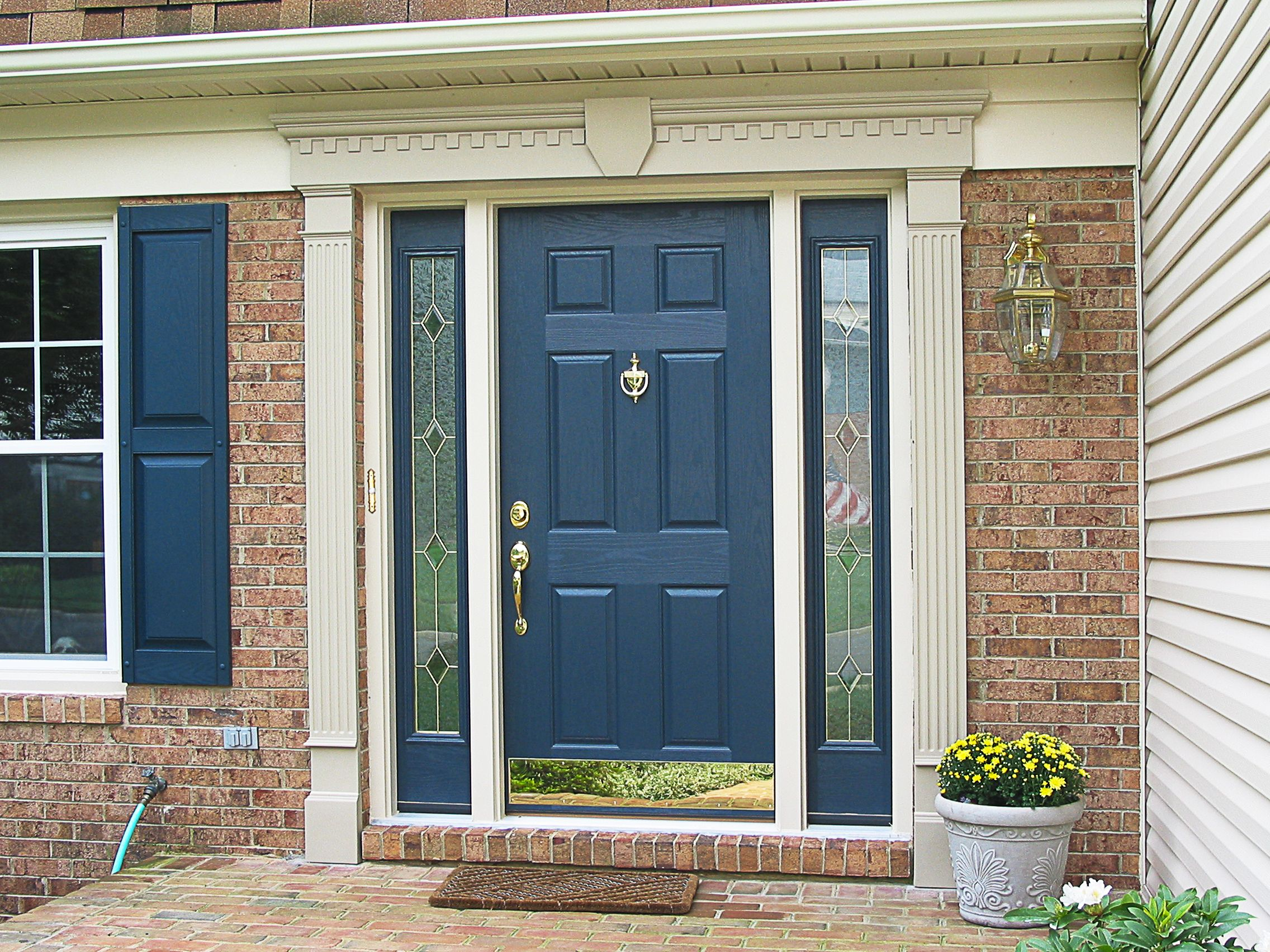 provia heritage fiberglass door with sidelites project