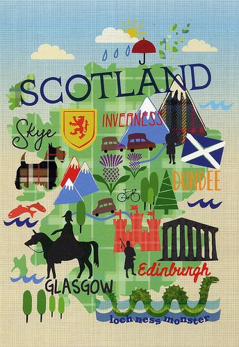 Map of Scotland #travelscotland