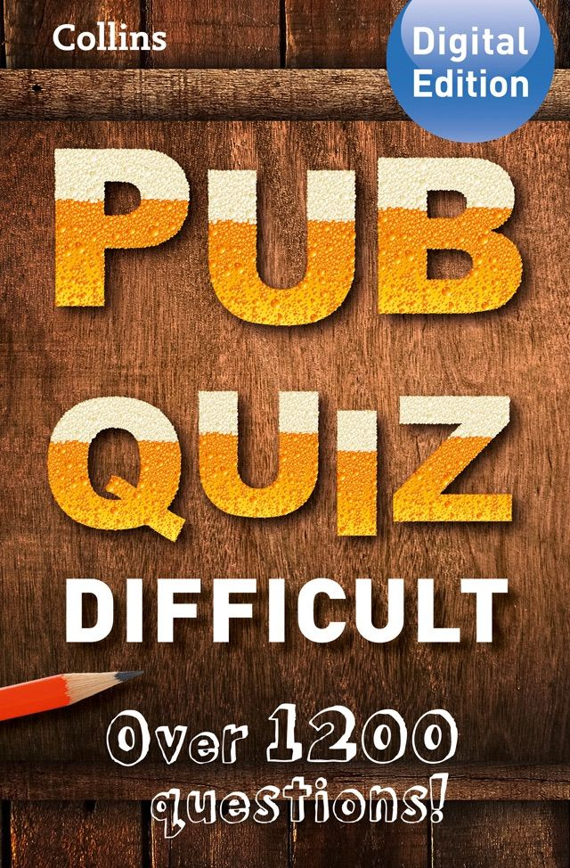 Collins Pub Quiz (Difficult) #. #ad. #Quiz. #Difficult. #Pub. #download #Ad (With images)   Pub quiz. Easy quiz questions. Pub quiz questions