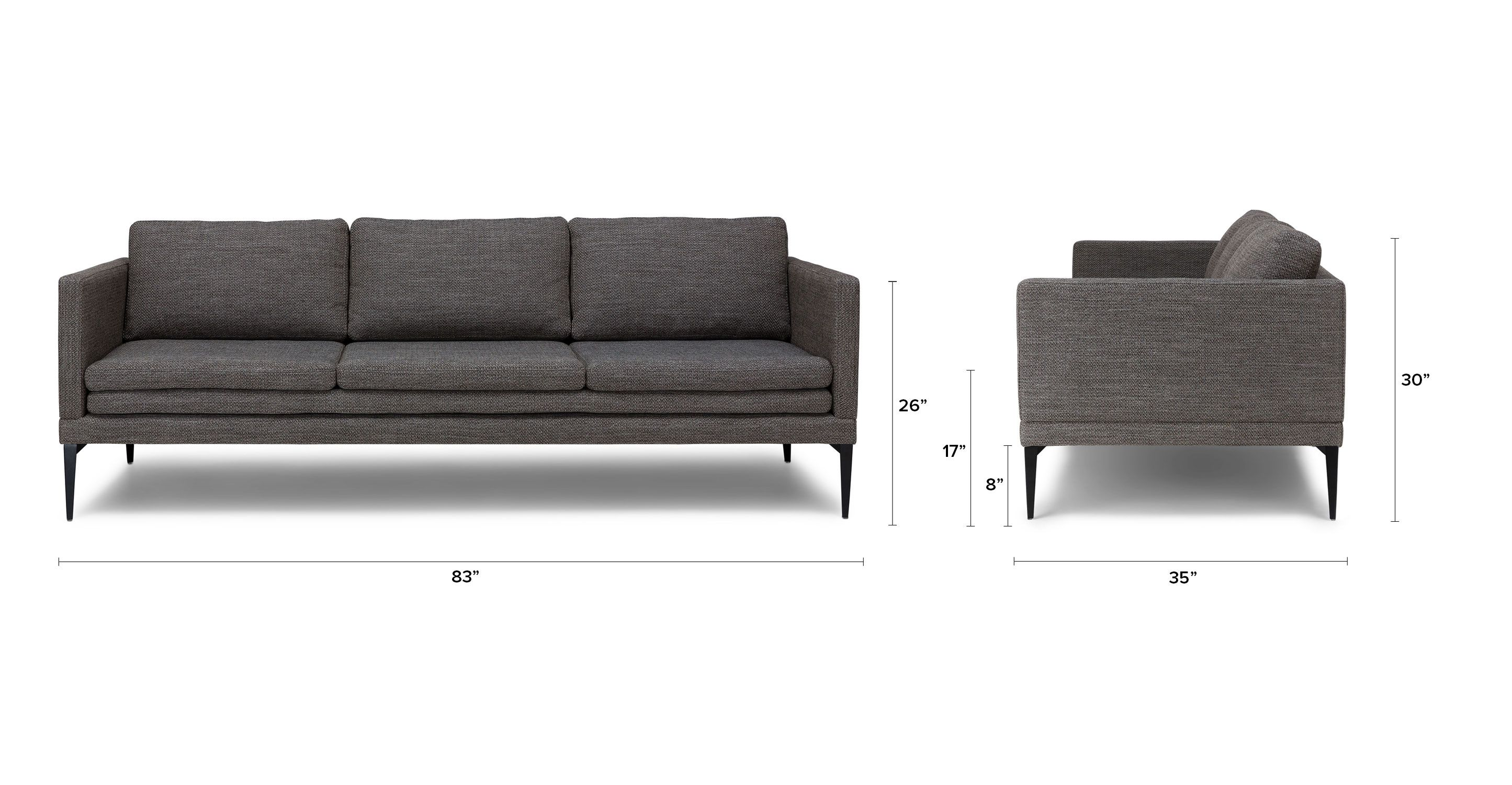 Gray Contemporary Sofa Triplo Contemporary Furniture Modern