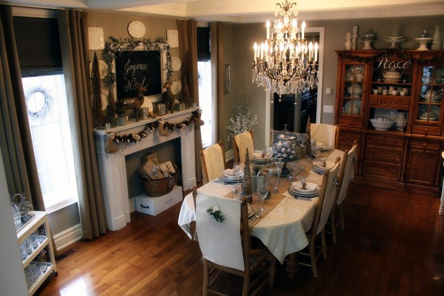 Faux Fireplace In Dining Room