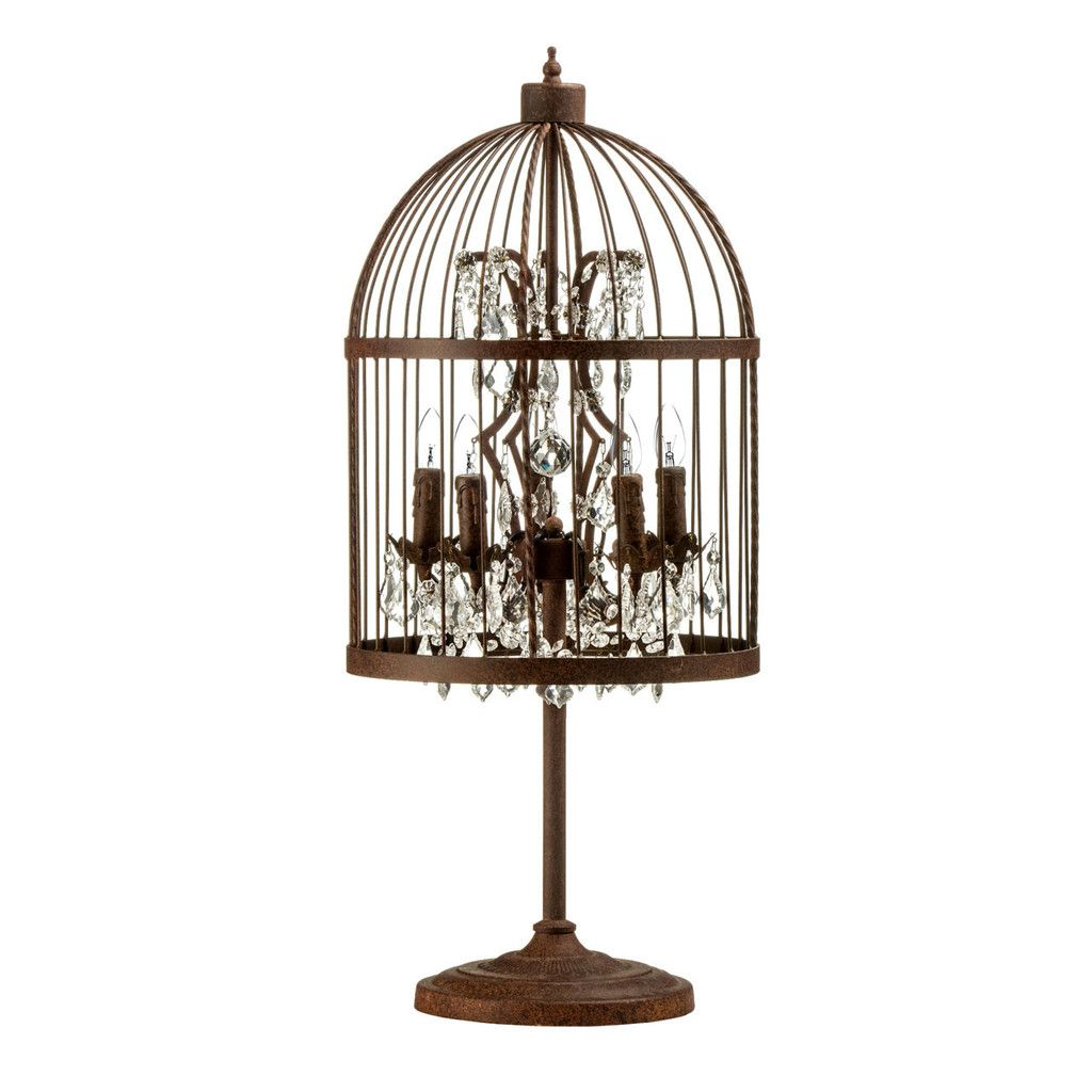 Antique birdcage table lamp ironcrystal lighting pinterest antique birdcage table lamp ironcrystal geotapseo Images