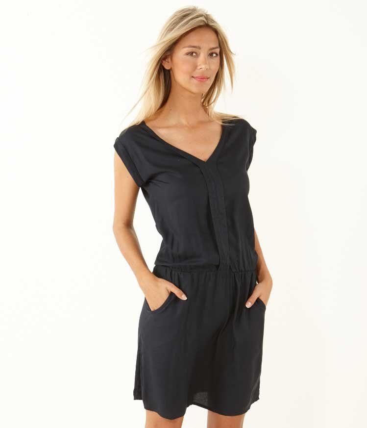 Women's pleat design plumetis dress - ROBE Womenswear Camaïeu.