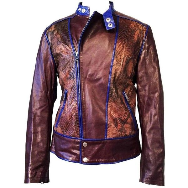 197f0308035ccf Gents Tom Ford Gucci Python Cafe Racer Motorcycle Jacket ( 4,500) ❤ liked  on Polyvore featuring outerwear, jackets, snakeskin jacket, motorcycle  jacket, ...