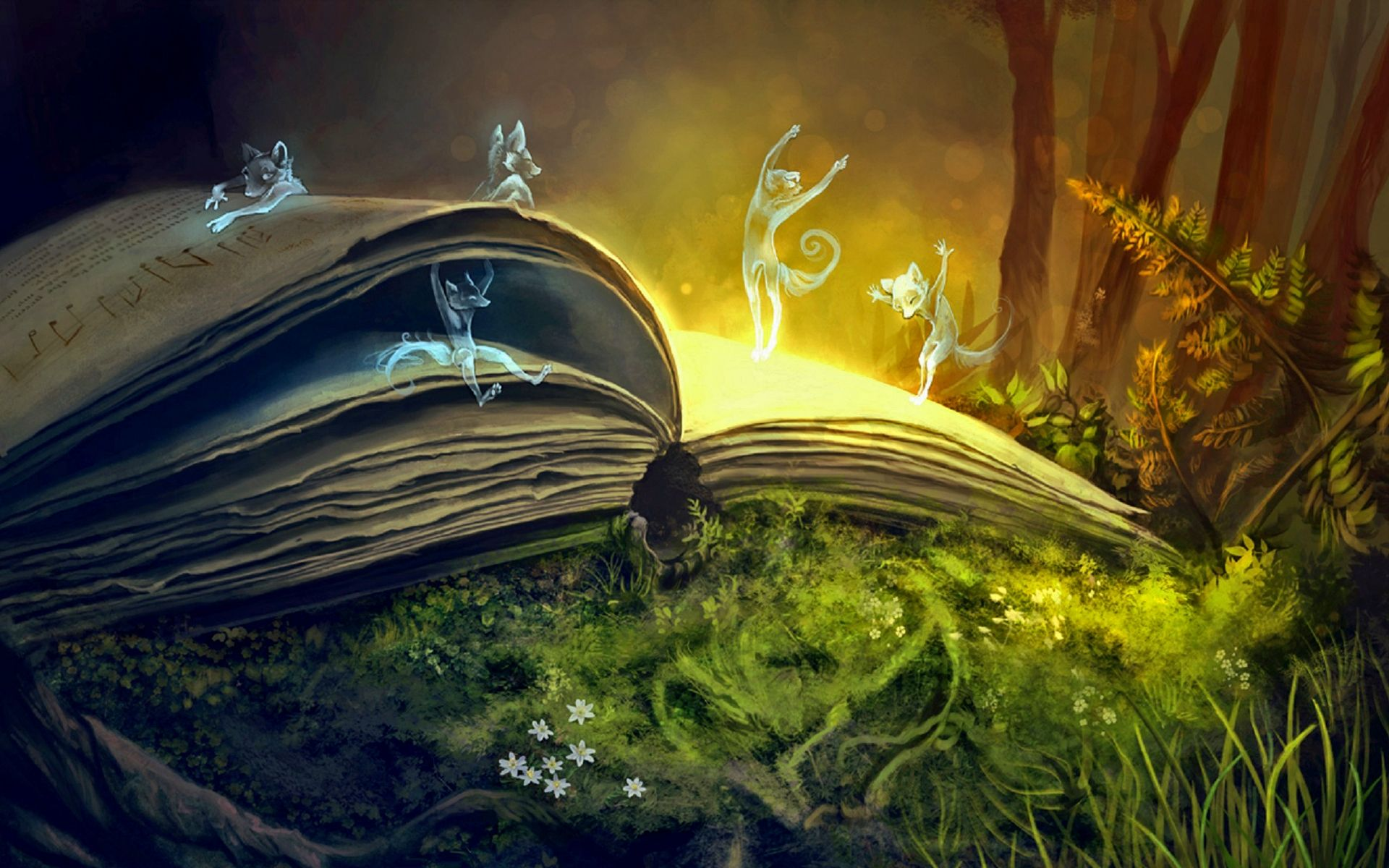 Fantasy art books magic alchemy witchcraft 1920x1440 for Book wallpaper