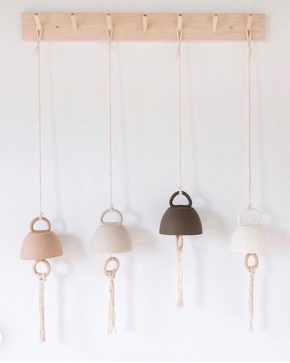 Ceramic Bells Made To Order Etsy In 2020 Ceramic Bell Decor Ceramics