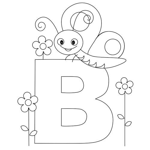 Letter B Worksheets and Coloring Pages | classroom Letters ...