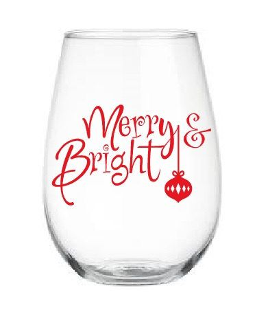 Christmas Wine Glass Stickers Santa Hat Xmas Decals For Glasses and Baubles
