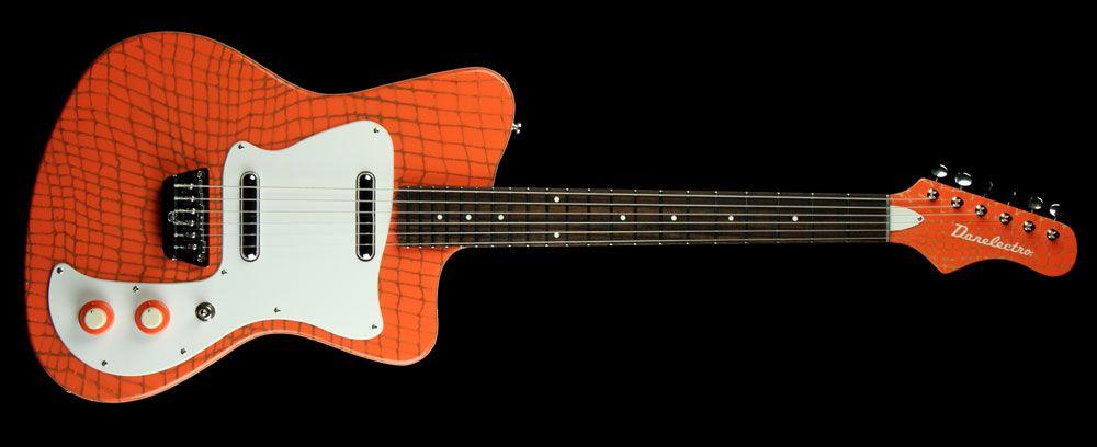 Danelectro '67 Heaven Electric Guitar Alligator Orange