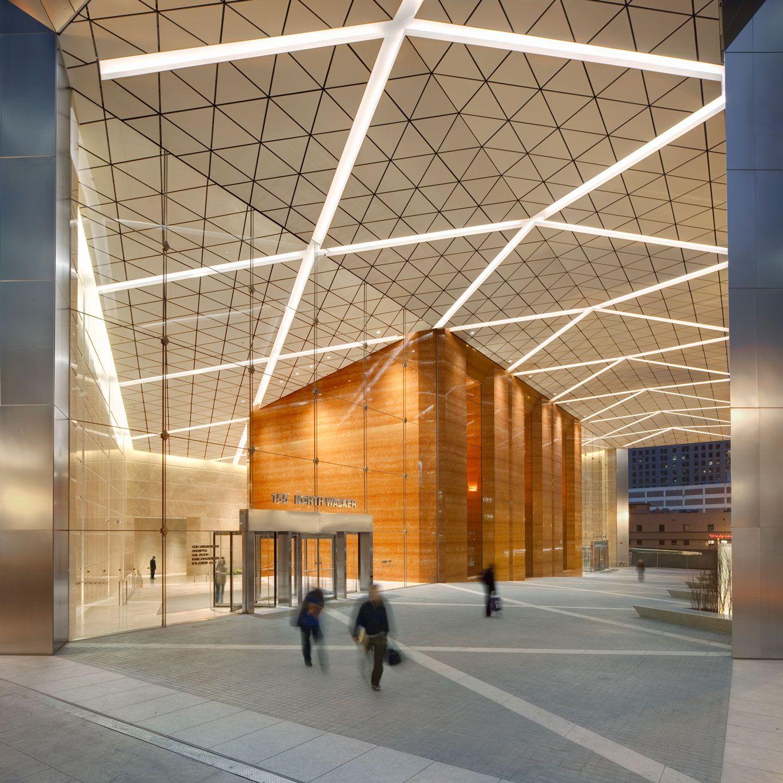 Chicago Lighting Company: The John Buck Company . Exterior Linear Lighting