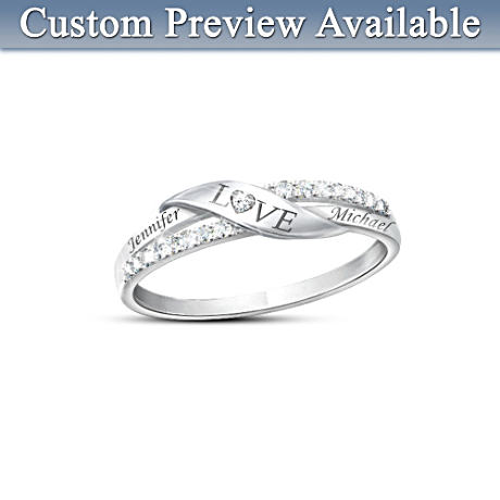 Love Personalized Diamond Ring Diamond Ring and Romantic