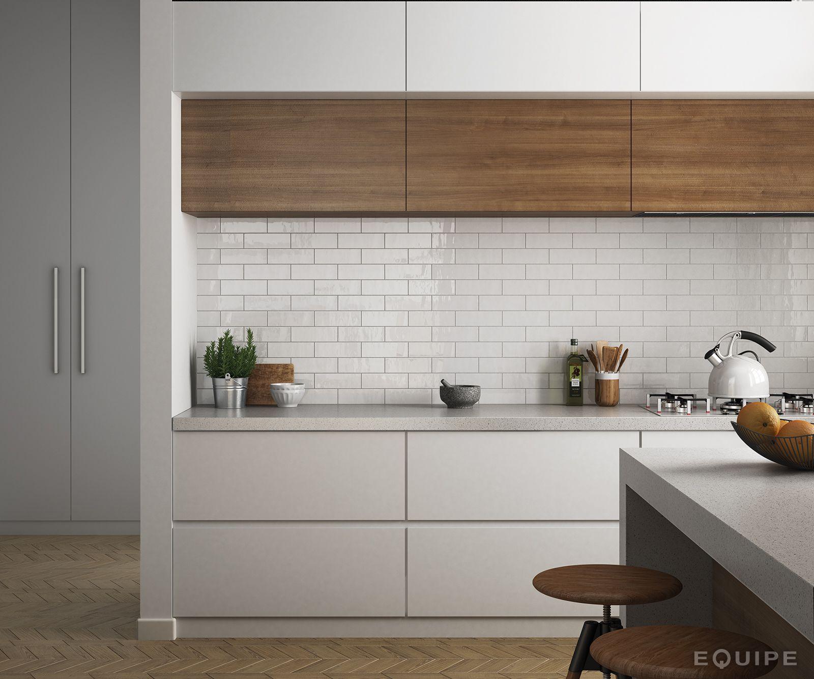 Kitchen Tiles Modern country blanco 6,5x20. #architecture, #architect, #bath, #bathroom