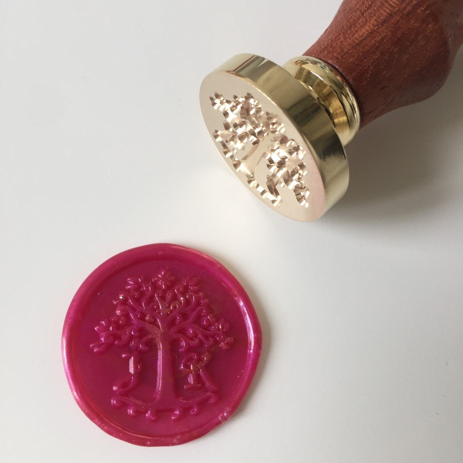 Love Tree design Wedding Wax Seal Stamp with initials | Wax seals ...