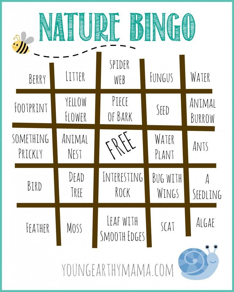 Free Nature Bingo Printable. Outdoor Bingo Printable ...