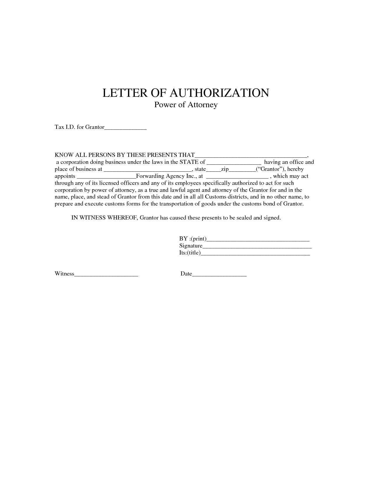 Power Authorization Letter Sample Employment Verification Form