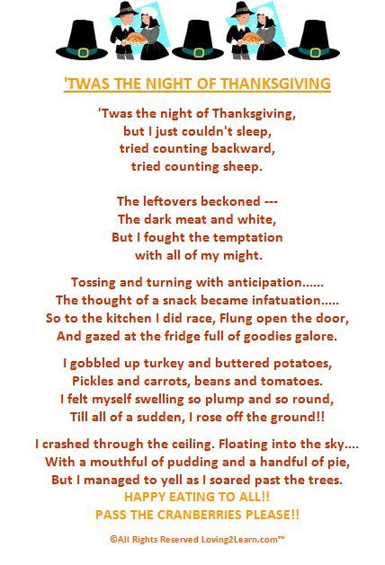 'Twas the Night of Thanksgiving