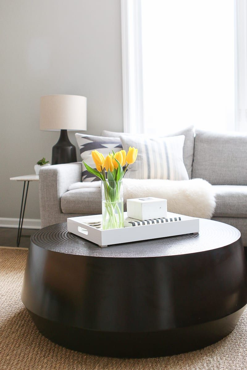 Tips To Style A Round Coffee Table In Your Living Room The Diy Playbook Coffee Table Round Coffee Table Styling Decorating Coffee Tables [ 1200 x 800 Pixel ]