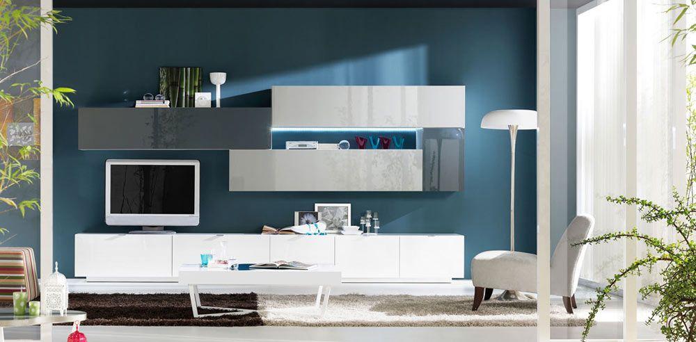 mueble salon blanco y gris buscar con google