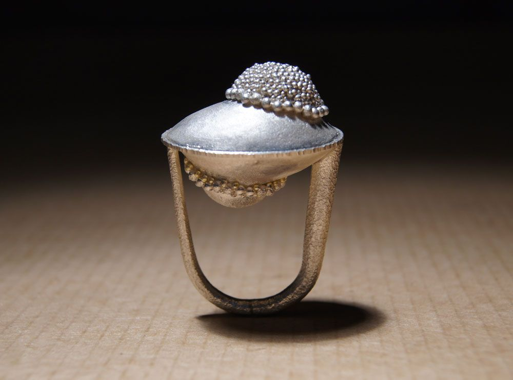 Harold O'Connor. Ring: Untitled, 2012. Silver, granulation.