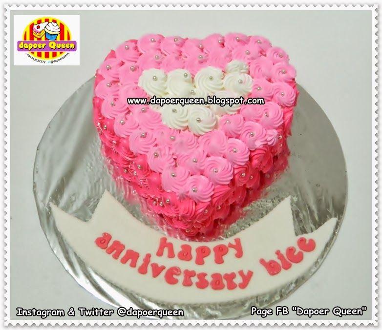 "Dapoer Queen: Pink ""Love"" Ombre cake"