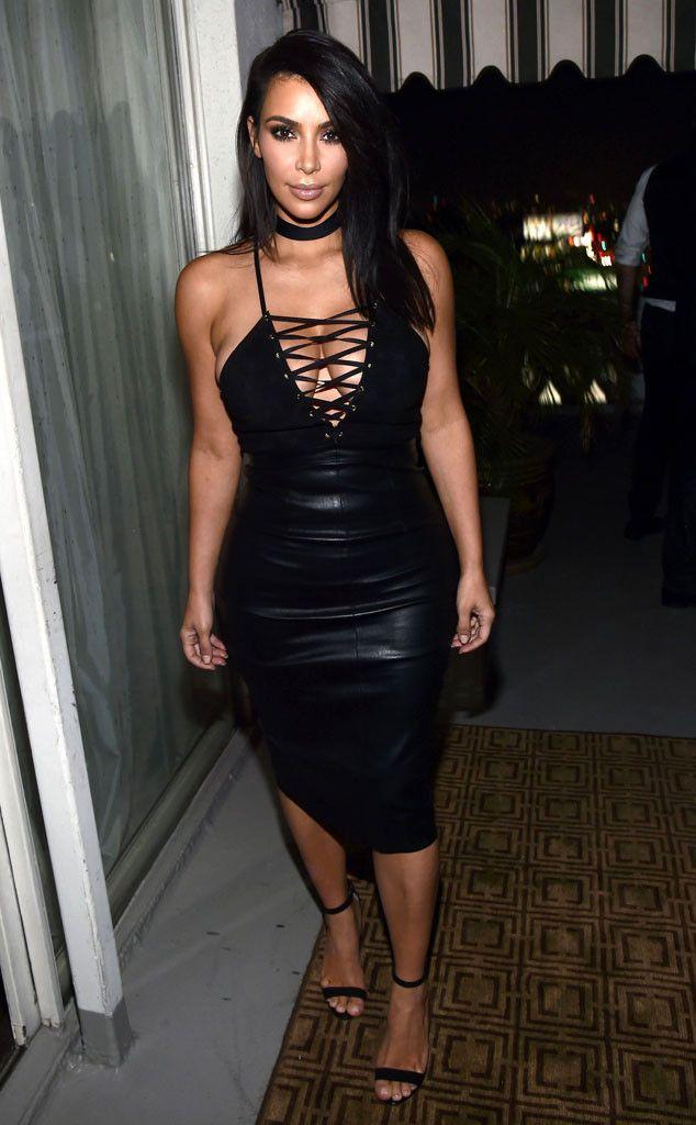 Kim k black dress girls
