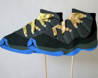 reputable site 8364f 058f0 Teen Boy Birthday Jordan Shoes Party Centerpiece