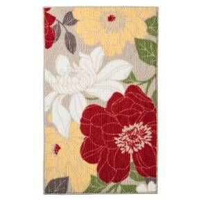 Superieur 34x20 Threshold™ Spring Floral Kitchen Rug   Red $19.99