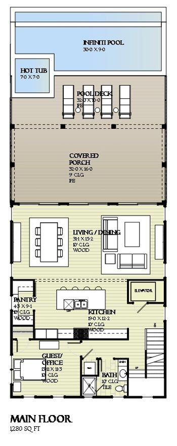 Santa Rosa Sound Coastal House Plans From Coastal Home Plans Beach House Floor Plans Beach House Interior Beach Cottage Decor