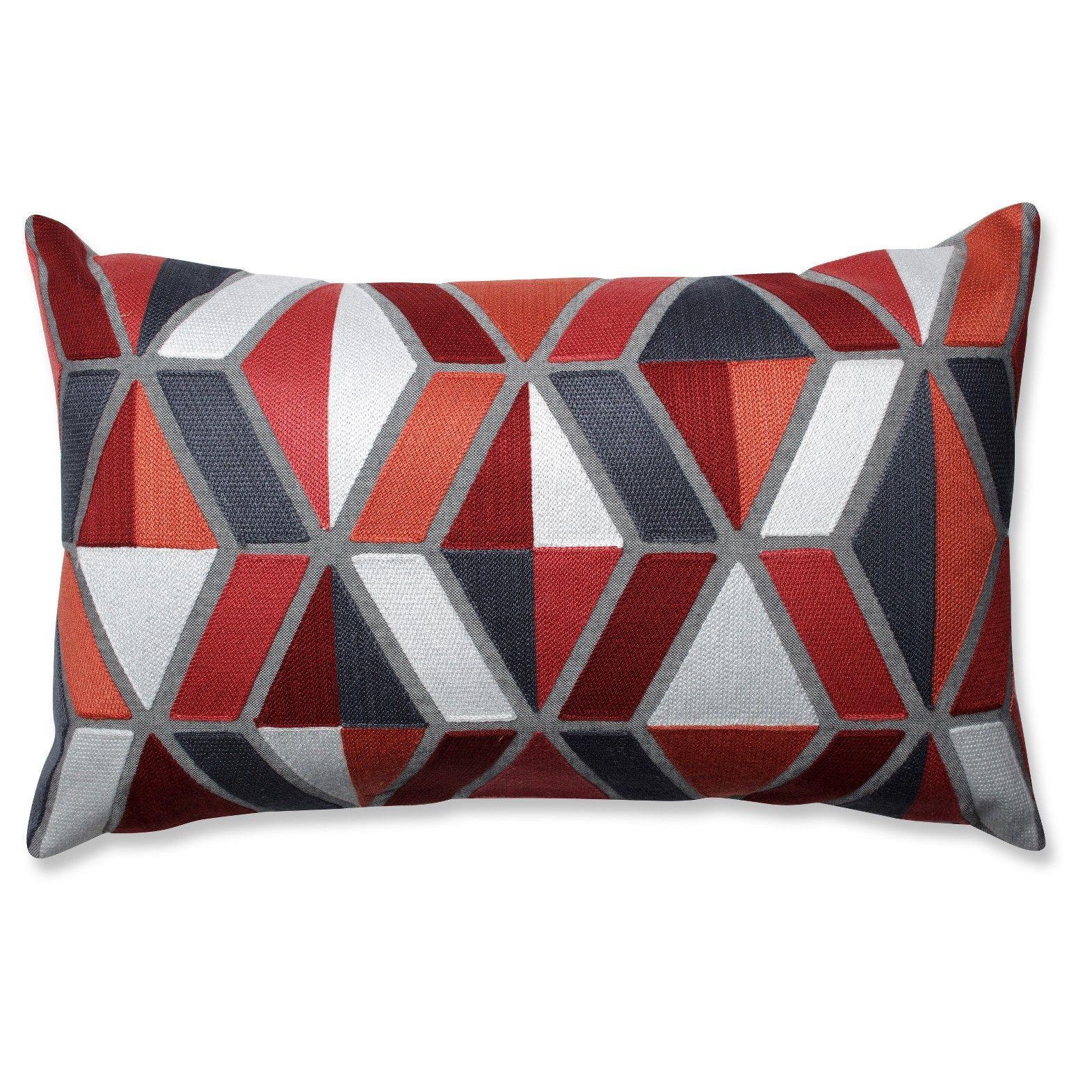 Orange Throw Pillow Geometric