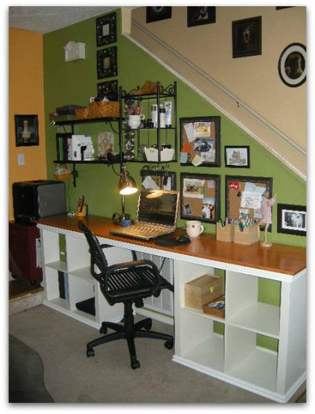 kallax desk with mouldings organize with ikea expedit kallax bookcases group board pinterest. Black Bedroom Furniture Sets. Home Design Ideas