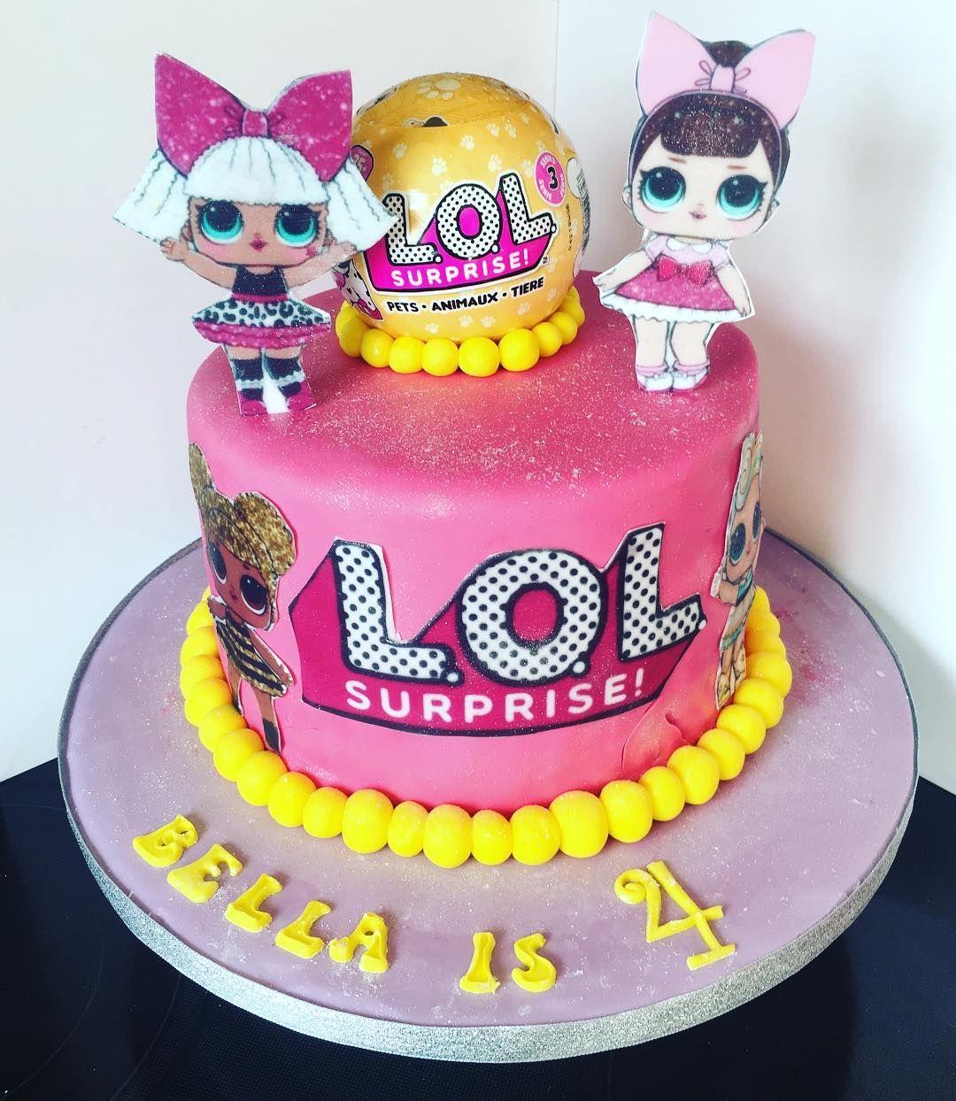 Lol surprise cake for bellas 4th birthday