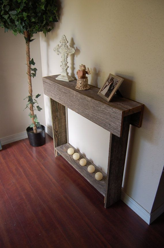 Wood Console Table Skinny Entry Table Small Table by birdcottage