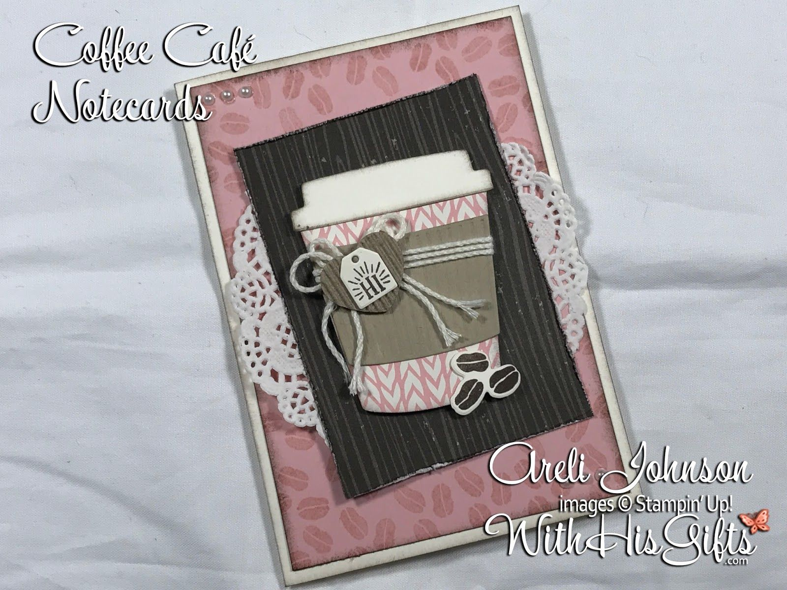 Join me in my craft room today and learn how to create these absolutely gorgeous Coffee Café note cards featuring Stampin Up's Coffee Café Bundle! #stampin#39;up!cards