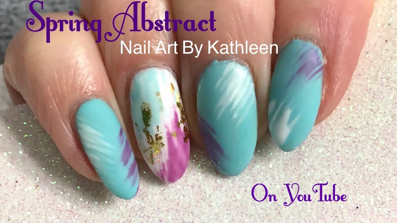 Easy Spring Abstract Nail Art-Subscribe to my channel for more nail ...