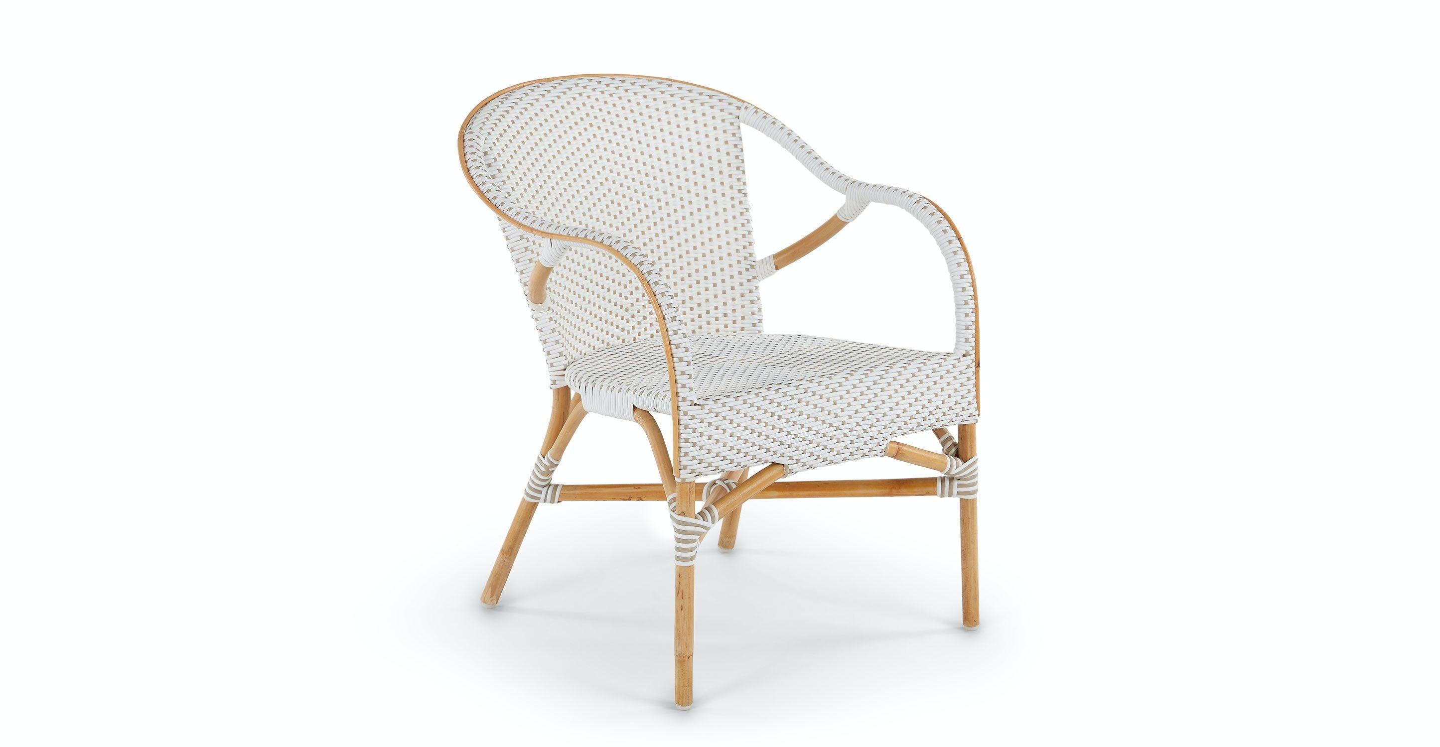 Leisuremod Weave Mace Indoor Outdoor White Dining Chair Set Of 2 Mace White Indoor Outdoor D White Dining Chairs Dining Chair Set Outdoor Dining Chairs