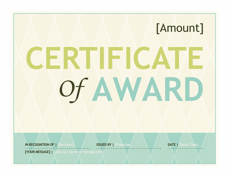 gift certificate template word 2016
